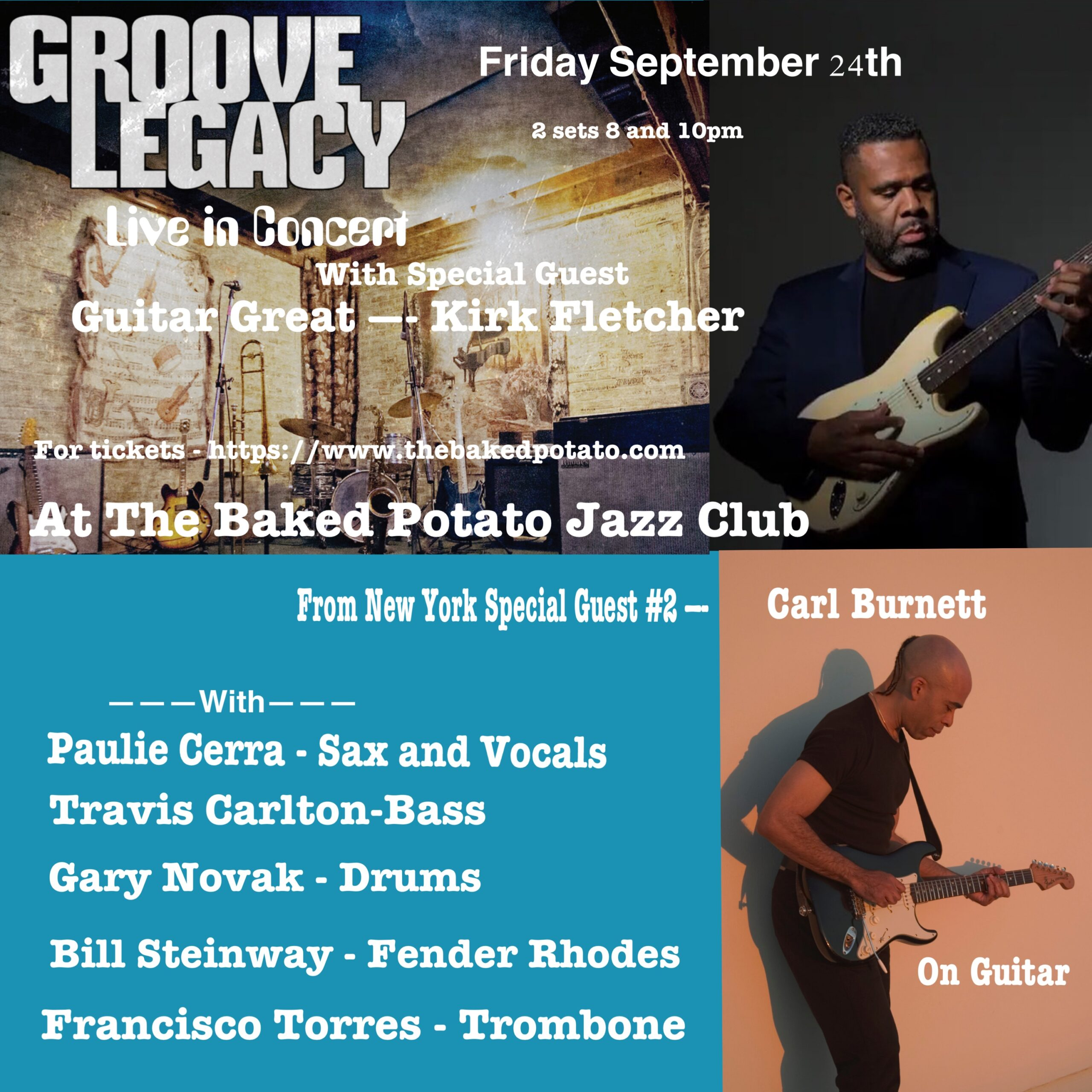 GROOVE LEGACY - Friday, September 24, 2021