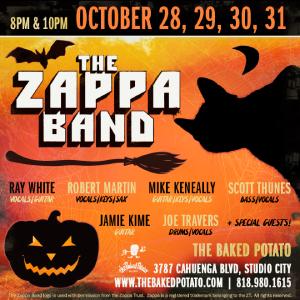 The ZAPPA Band - Thursday, October 28, 2021